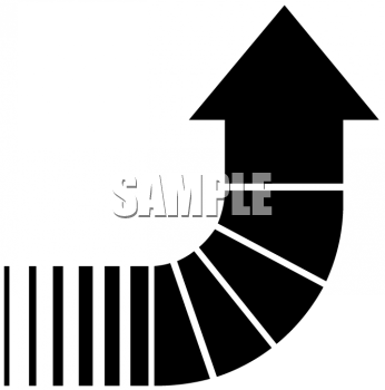 Segmented Arrow Pointing Up.