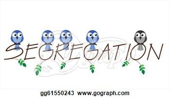 Clip Art of Segregation.