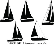 Segelboot Clip Art Illustrationen. 15.616 segelboot Clipart EPS.