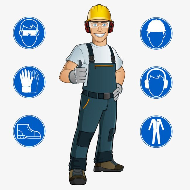 Vector Worker Comics, Safety Hat, Thumb, Cartoon Worker PNG.