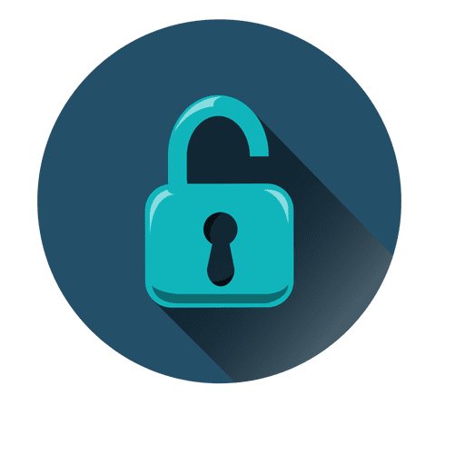 Security circle icon.