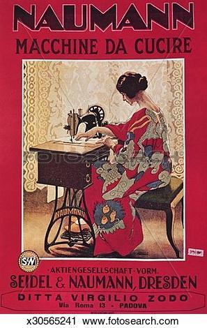 Clipart of A Seidel and Naumann Sewing Machine x30565241.