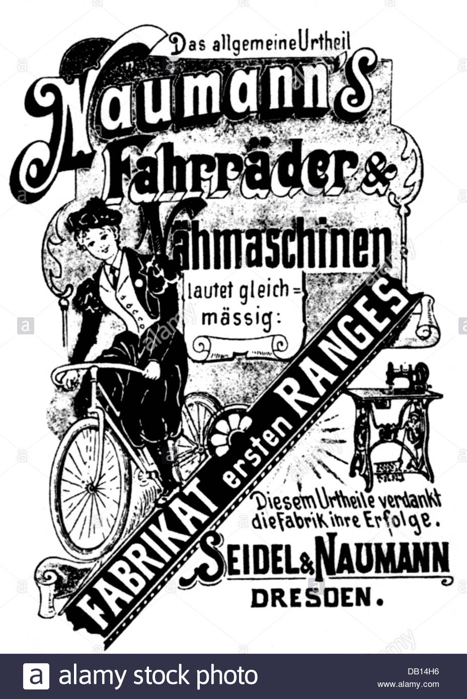 Advertising, Bicycle, Advertisement For Bicycles And Sewing.