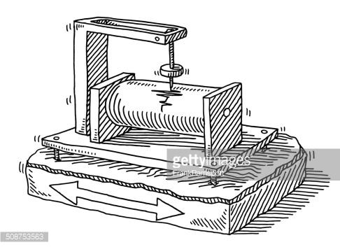 Seismograph Earthquake Detection Drawing Vector Art.