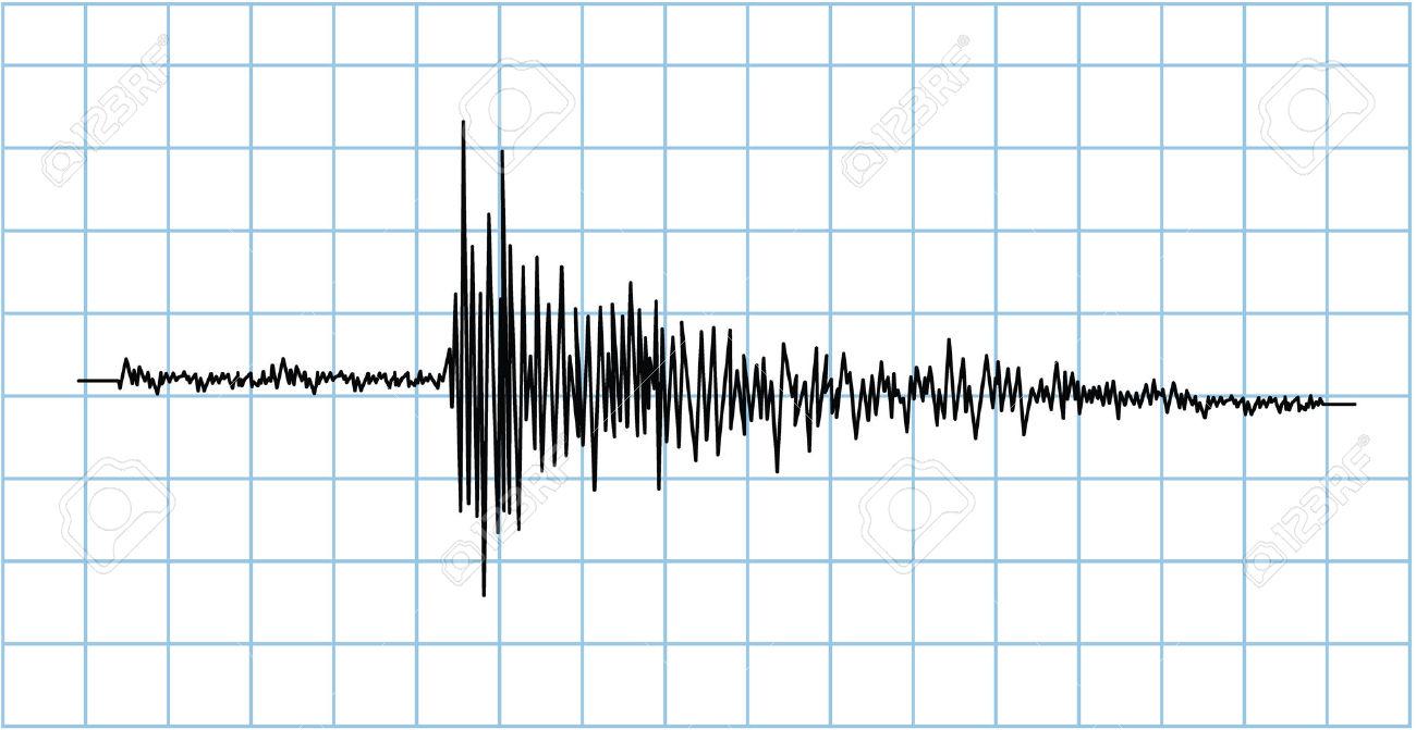Earthquake seismograph clipart.