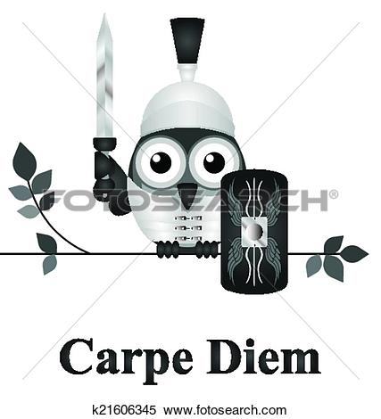 Clipart of Seize the Day k21606345.