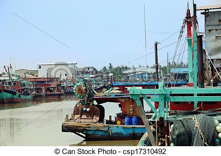 Stock Photographs of Sekinchan Fishing village.