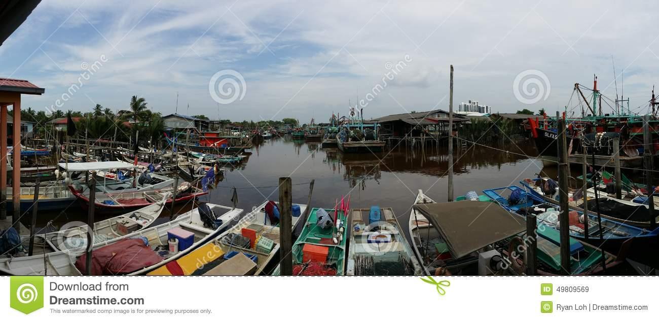 Fishing Village In Bagan Sekinchan Malaysia Editorial Stock Image.
