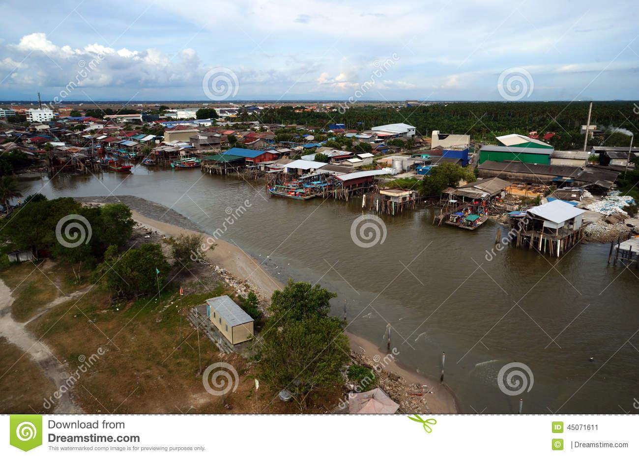 Fish Village At Sekinchan Kuala Selangor Stock Photo.