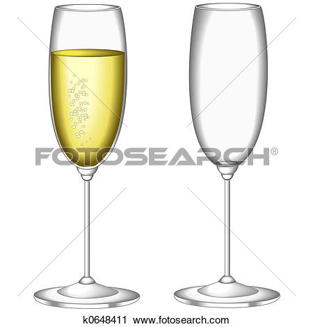 Stock Photography of Glass of sparkling wine k0648411.