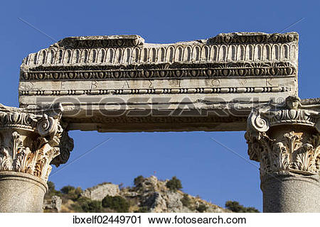"Stock Photography of ""Detail view of an ancient building, Ephesus."