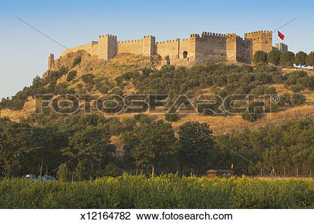 Stock Photo of Selcuk, Turkey. Byzantine citadel. Grand Fortress.