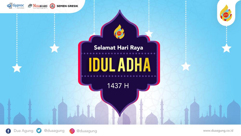 Selamat Hari Raya Idul Adha 1437 Hijriyah.