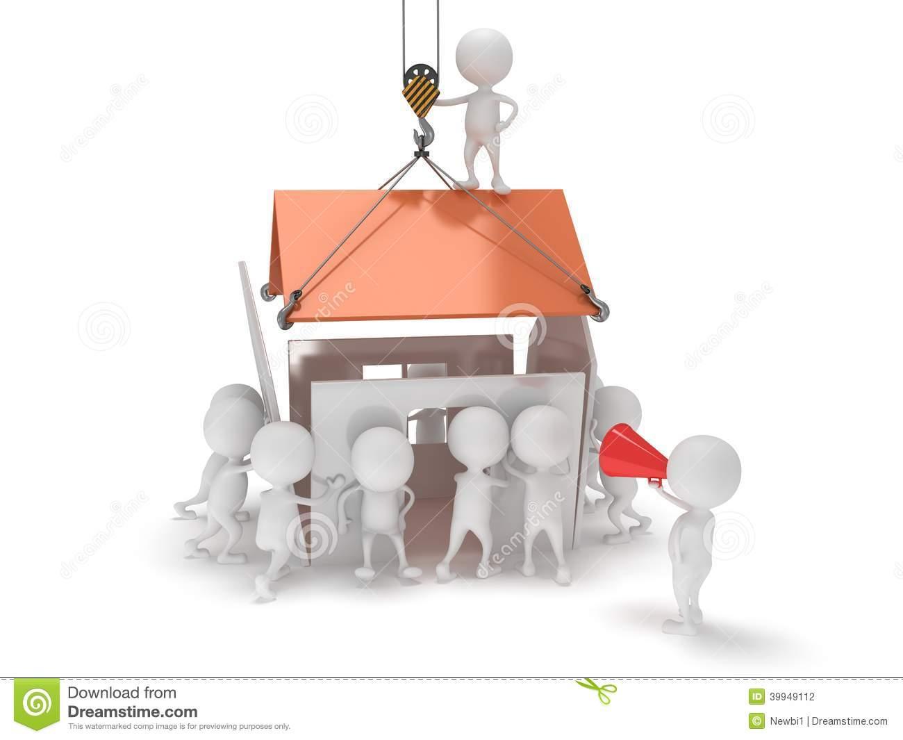 Haus bauen clipart.