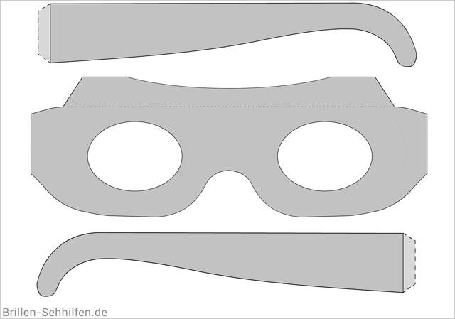 Eine Brille basteln (Vorlage & Anleitung).