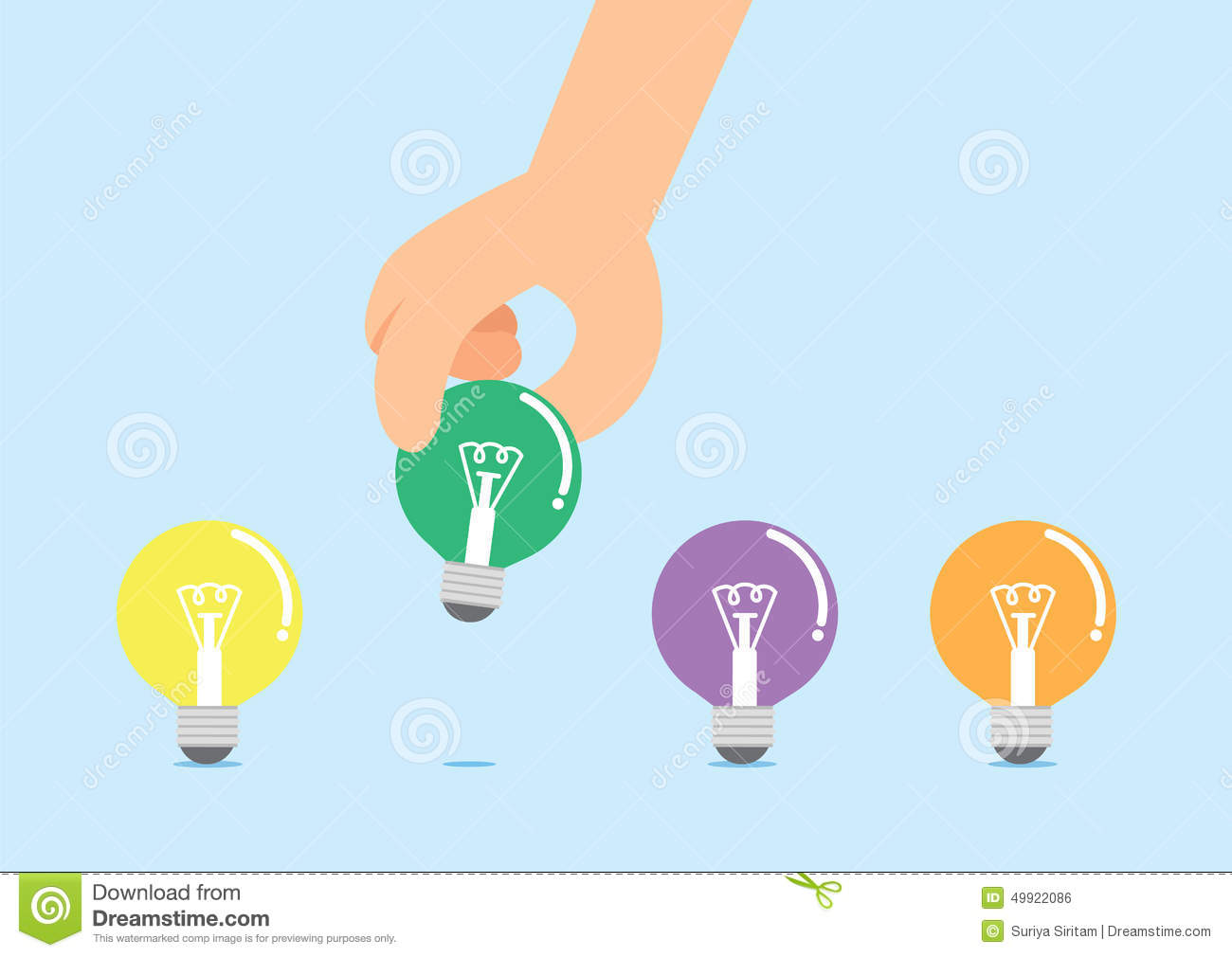 The Hand Select Idea Stock Vector.