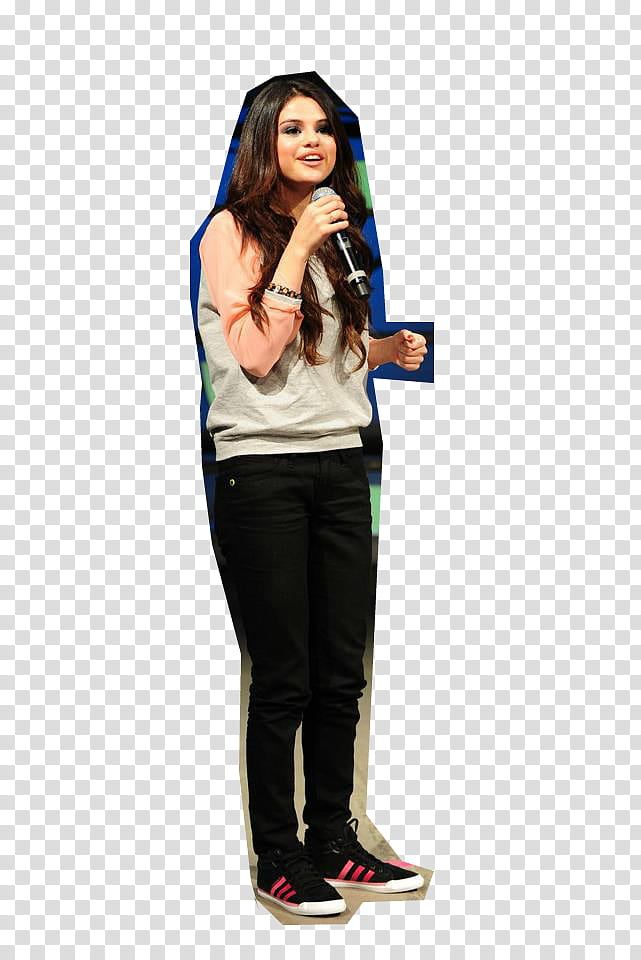 Selena Gomez Para Adidas Neo transparent background PNG.