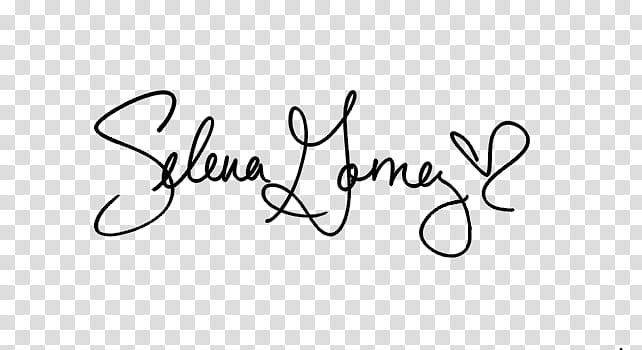 Selena Gomez, signature sign illustration transparent.