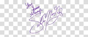 Selena Gomez signature transparent background PNG clipart.