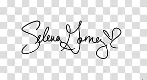 Selena Signature transparent background PNG clipart.