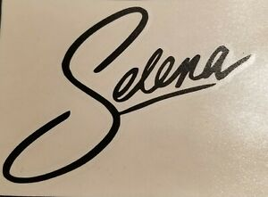 Details about Selena Quintanilla Signature Logo Vinyl decal sticker.
