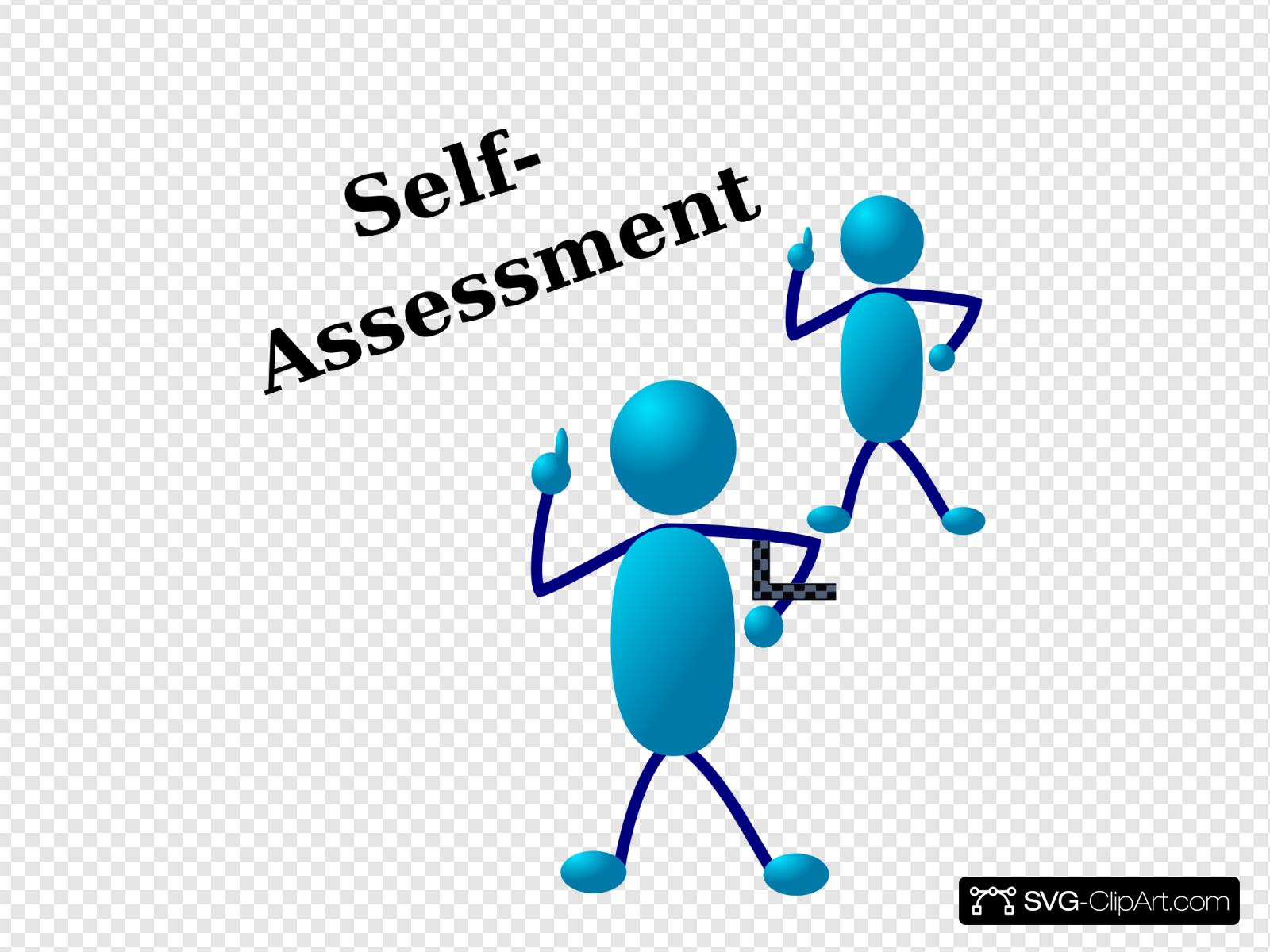 Blue Stick Man Self Assessment Clip art, Icon and SVG.