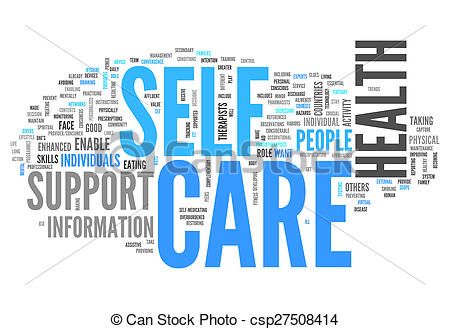 Clipart of Word Cloud Self Care.