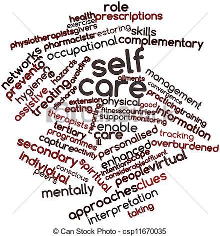 Drawings of Self care.