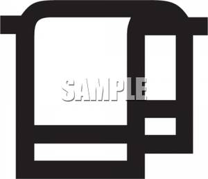 Clip Art Black and White Bath Towels.