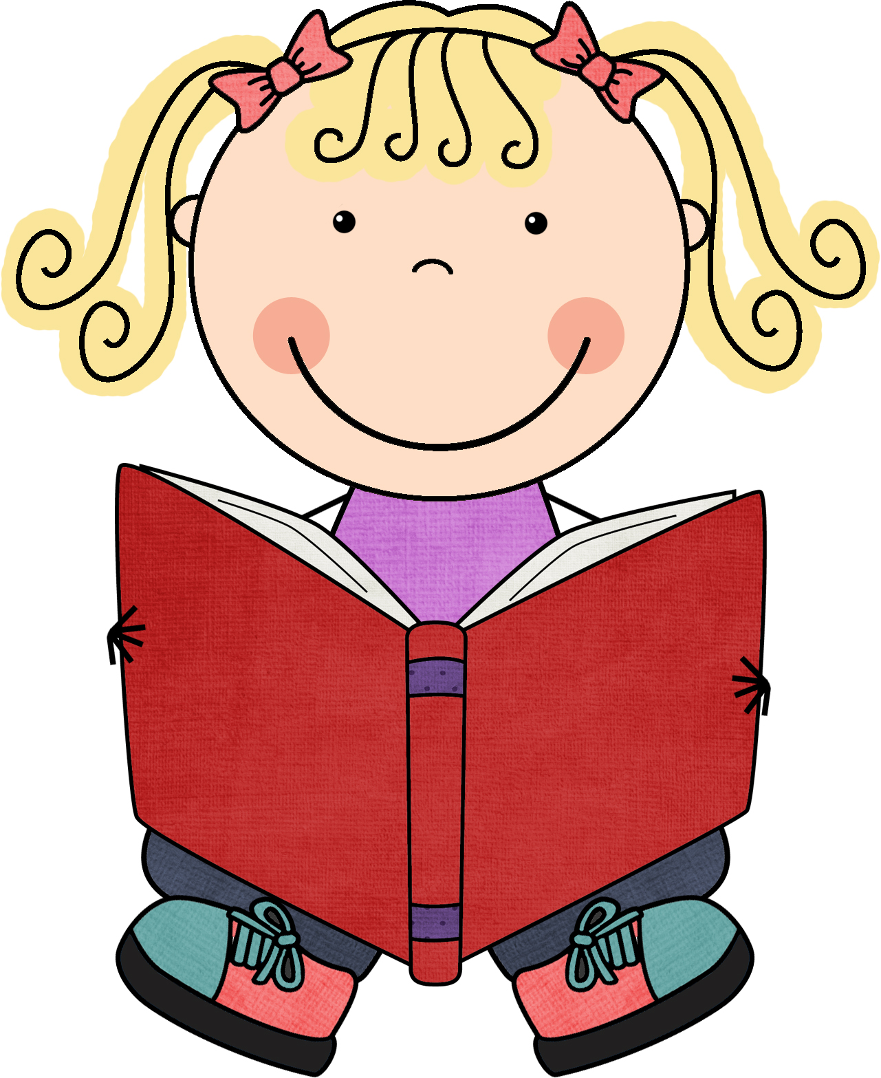 Read to self clipart.