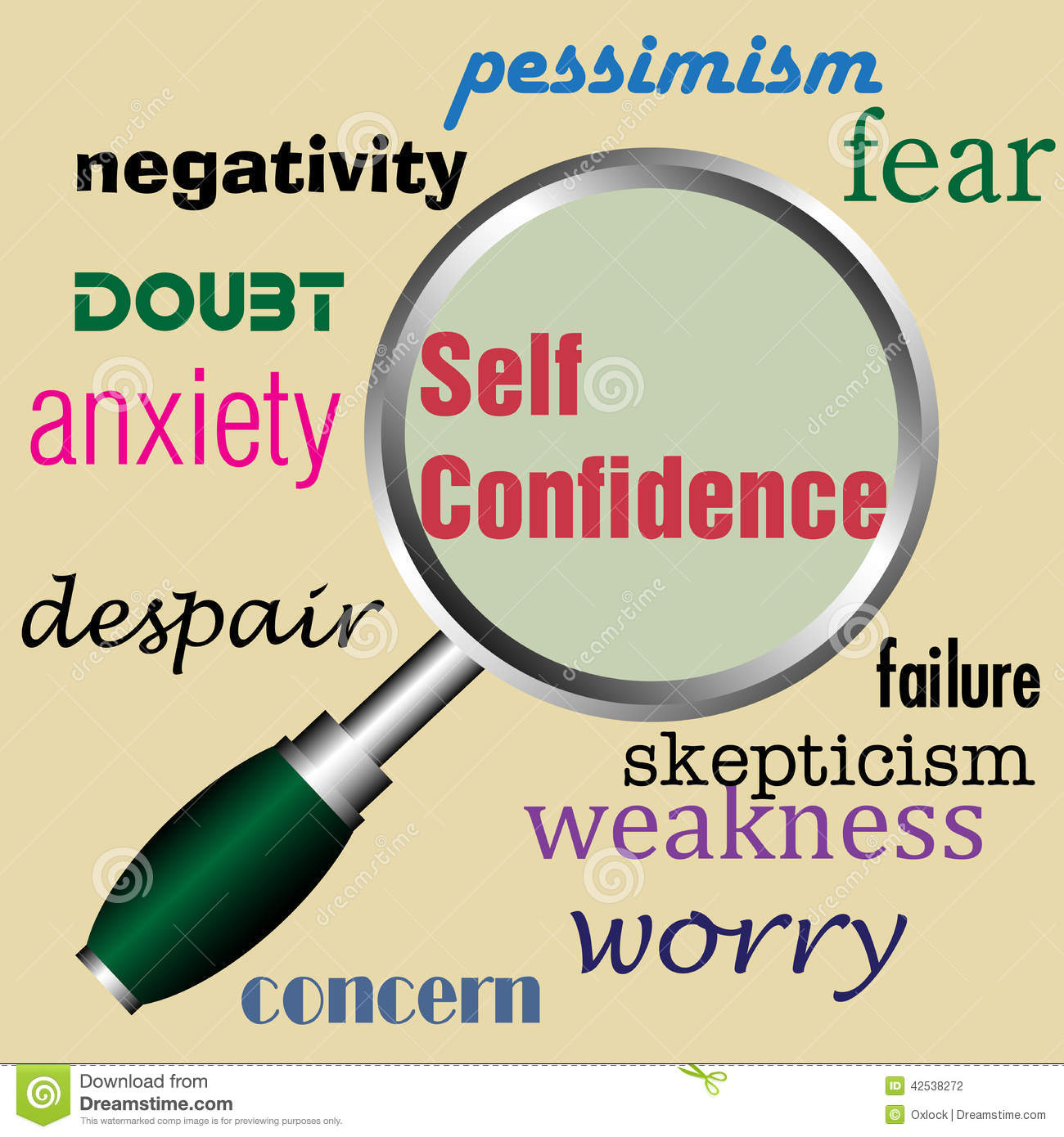 Low self confidence clipart.