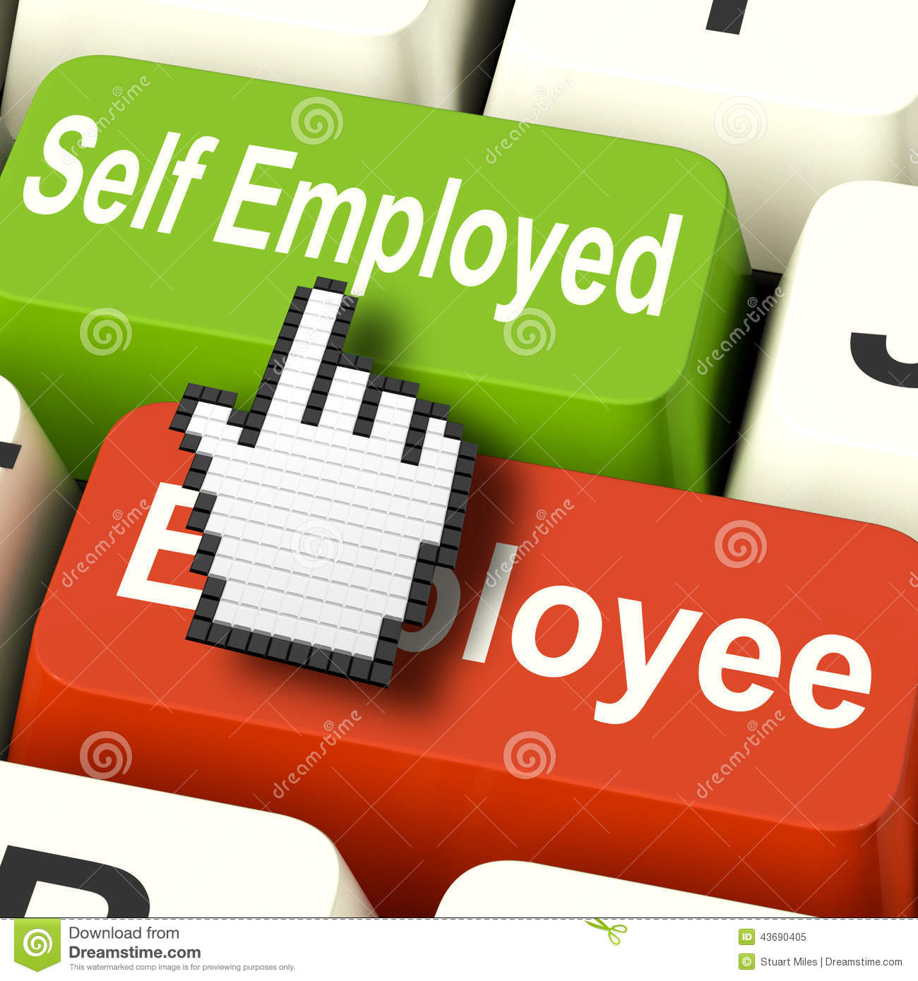 Self Employed Entrepreneur Job Occupation Stock Image.