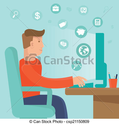 Self employed Clipart and Stock Illustrations. 666 Self employed.