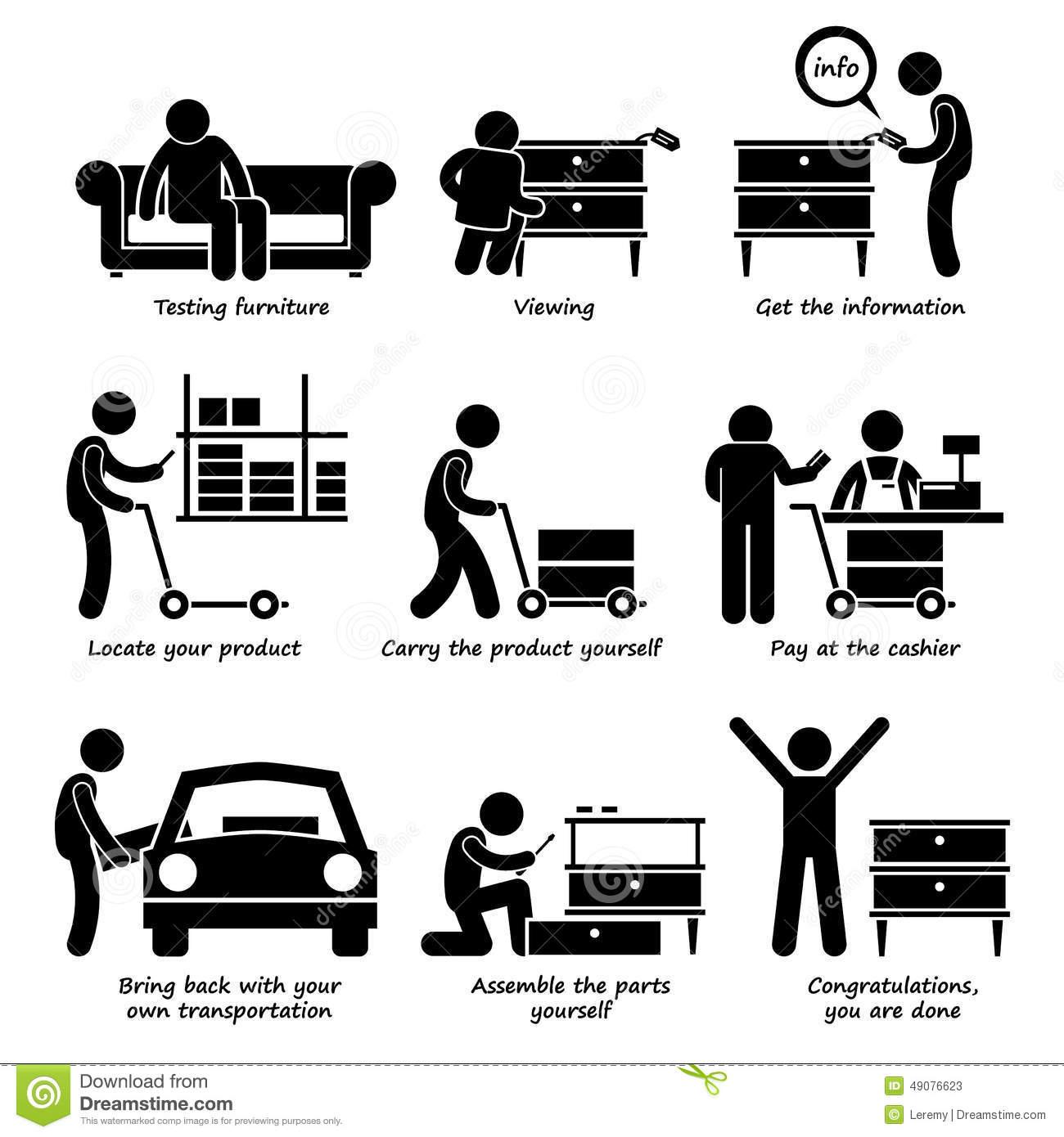 Self Service Stock Illustrations.