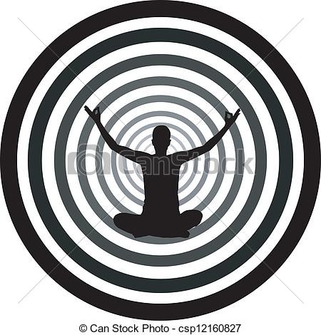 Vector Illustration of Self hypnosis csp12160827.