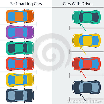 Scheme Parking Normal Cars And Self.