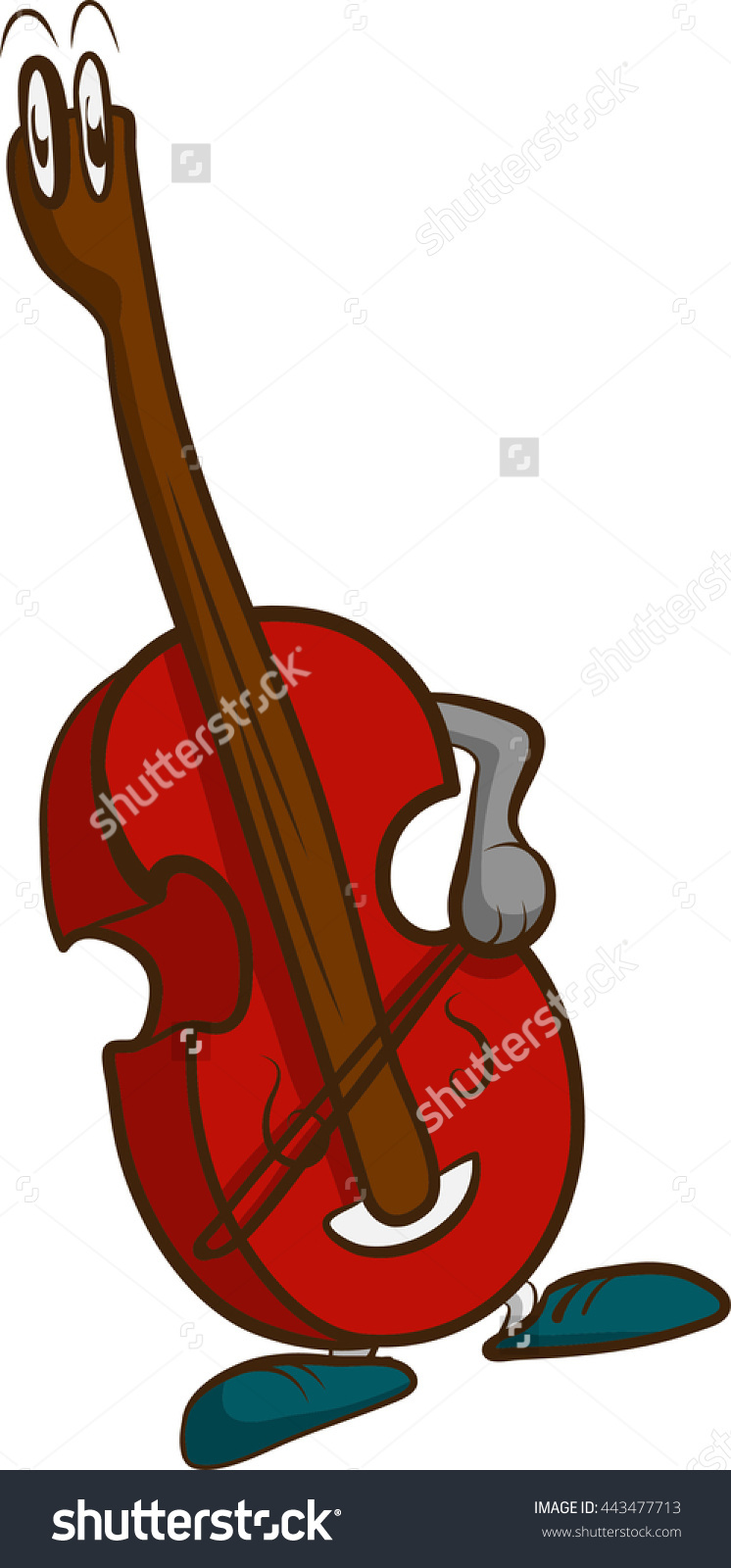A Self Playing Bass Stock Vector Illustration 443477713 : Shutterstock.