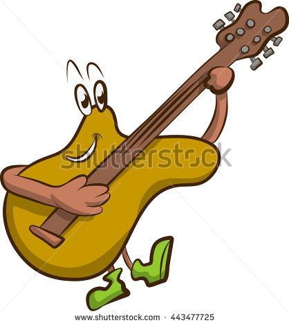 A Self Playing Guitar Stock Vector Illustration 443477725.