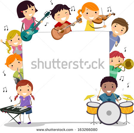 children playing musical instruments clipart #14