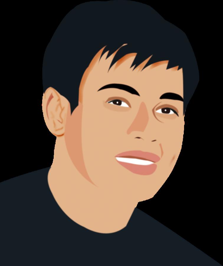 Self Portrait illustration SVG Vector file, vector clip art svg.