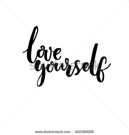 Love Yourself Psychology Quote About Self Stock Vector 402160006.