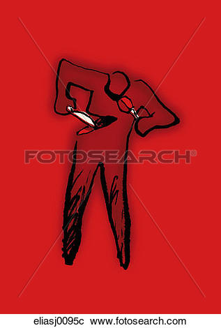 Stock Photography of violence, cutting, psychology, self hatred.