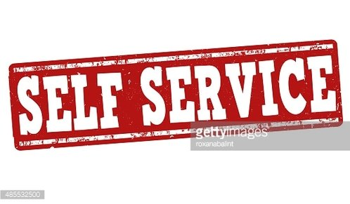 Self service stamp Clipart Image.