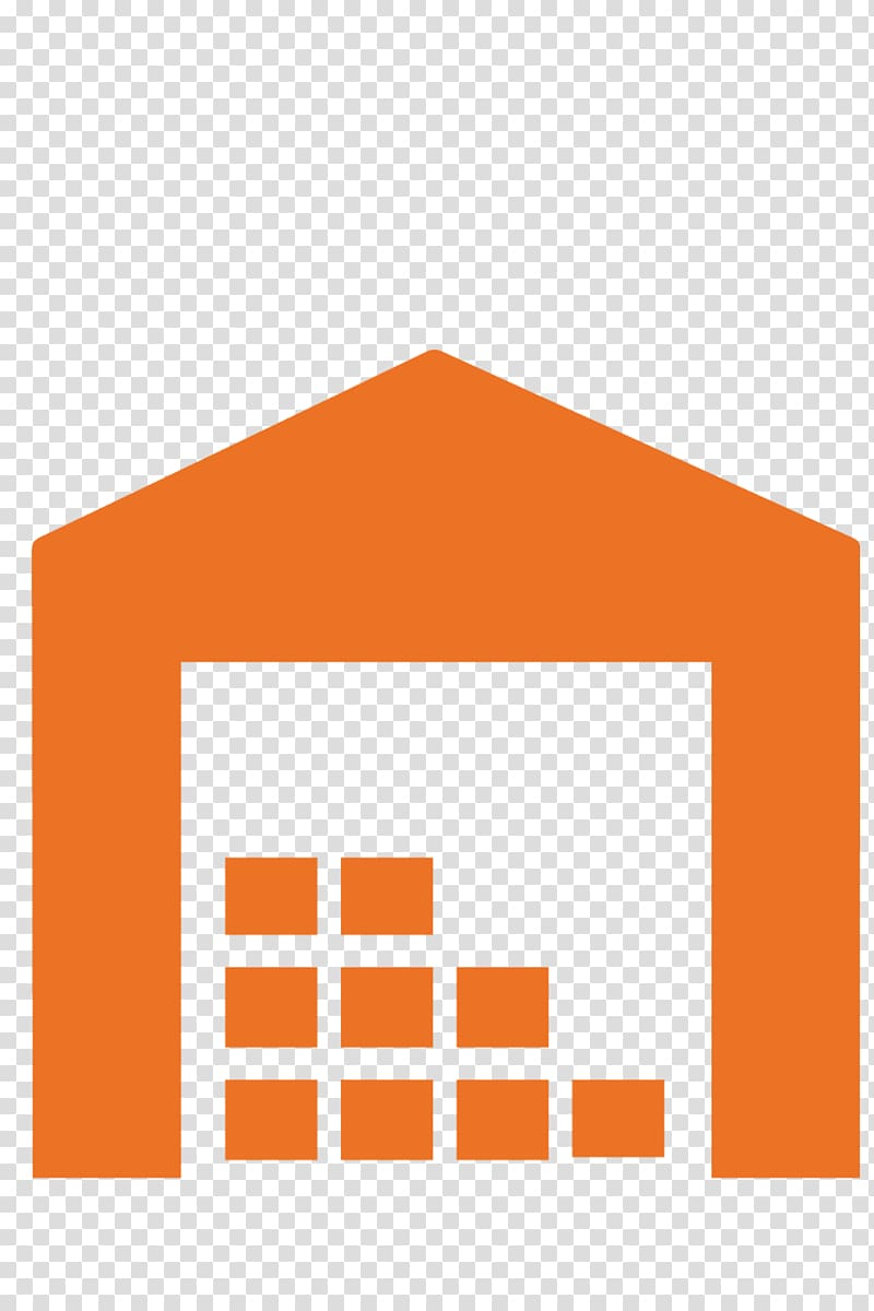 Warehouse Logistics Self Storage Icon, Orange logistics.