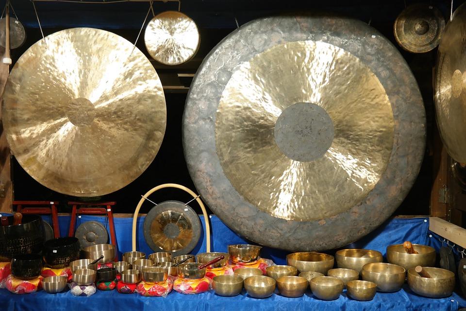 Free photo: Gong, Singing Bowls, Mark Up Idiot.