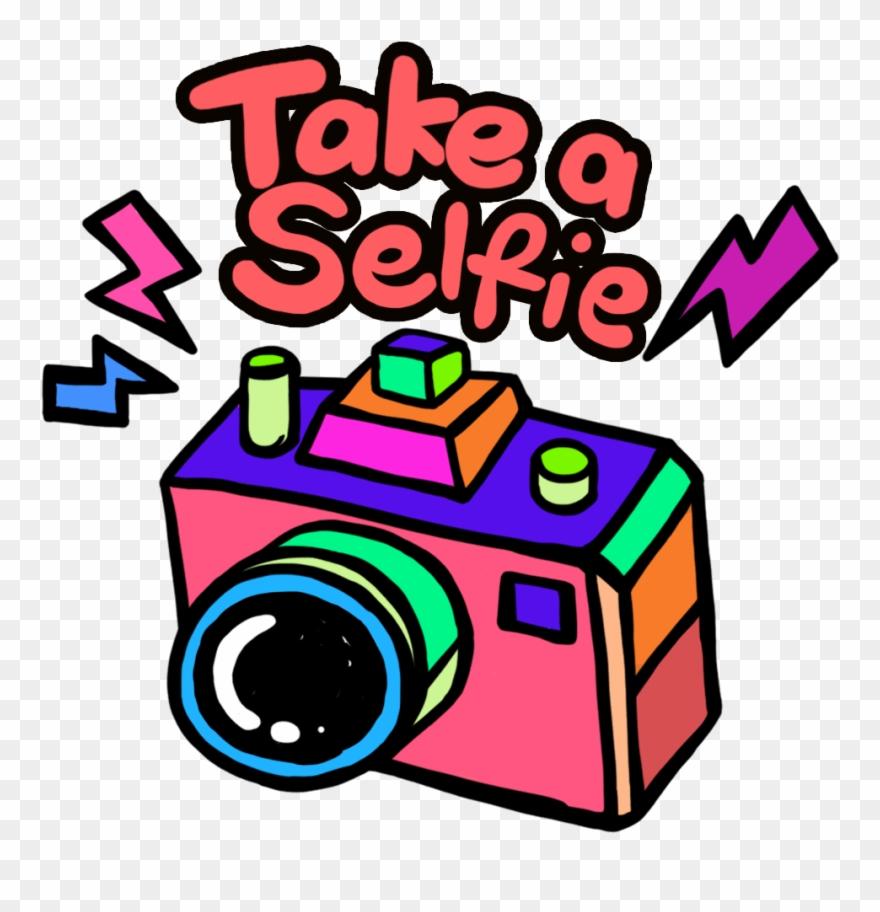 Take A Selfie Orange Clipart (#1287836).