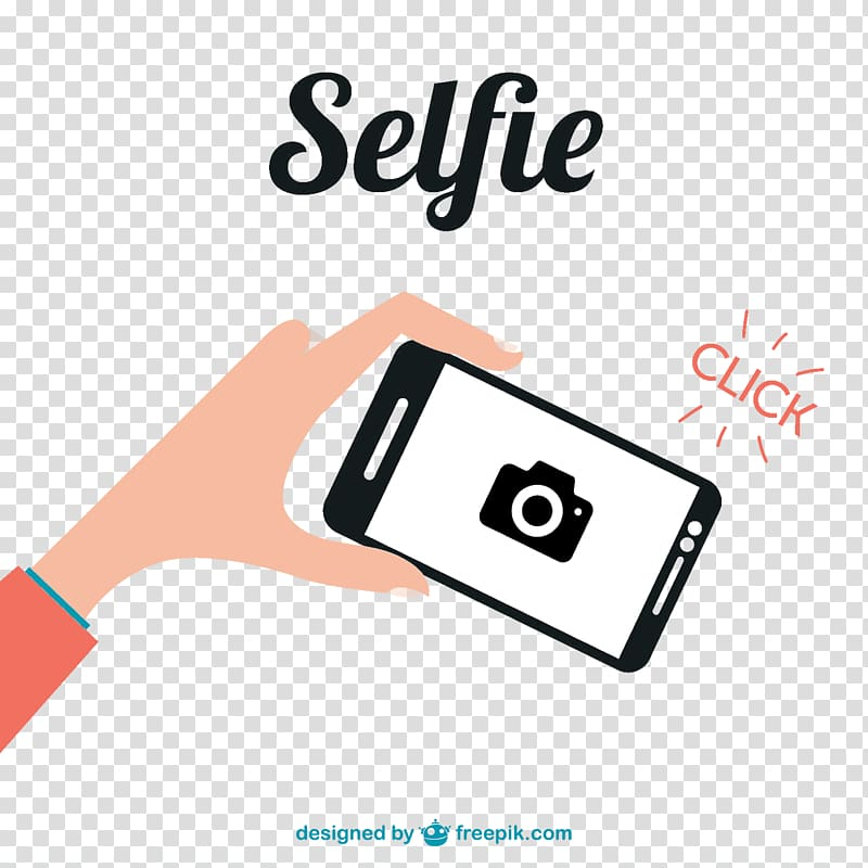 Selfie Social media, With the smartphone self.