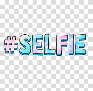 Selfie text transparent background PNG clipart.
