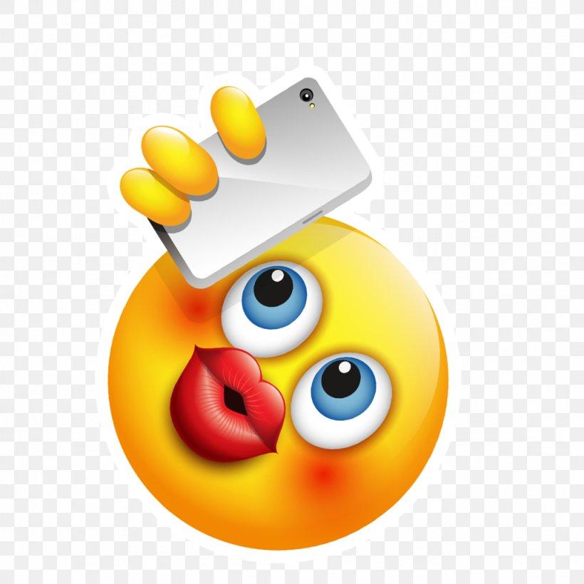 Emoji Selfie Smiley Facebook Emoticon, PNG, 1024x1024px.