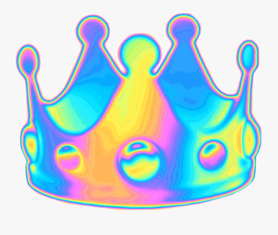 Holographic Holo Crown Emoji Queen Random Funny Selfie.
